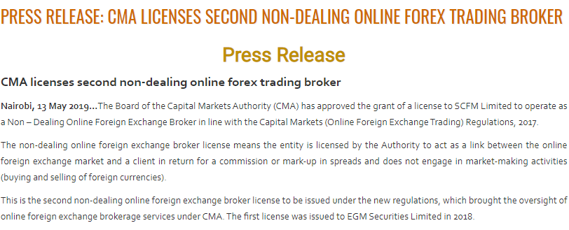 Scope Markets CMA regulation