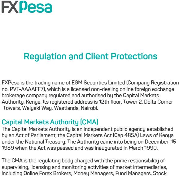 Check MPesa Broker regulations